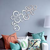 [ Kostenlose Lieferung - 7-12 Tage] 24PCS Kreis 3D DIY Home Decor TV Wand Aufkleber Dekoration Spiegel Wand Sticker BML® // 24PCS Circle 3D DIY Home Decor TV Wall Sticker Decoration Mirror Wall Stic