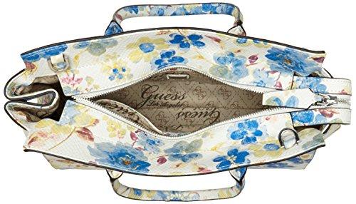 Guess  Loree, sac à main femme Blu (Blue Floral)