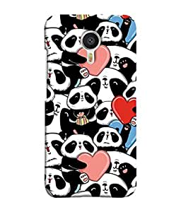 Meizu M3 Note, Meizu Note 3 Back Cover Group Of Pandas Design From FUSON