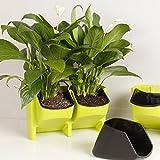 elegantstunning vertikale Garten Platz stapelbar Pflanztopf für Indoor Outdoor Dekoration oder Wachsende Pflanzen
