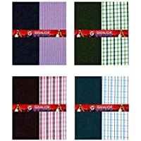 Kundan Sulz Gwalior Men's Poly Cotton Shirt and Trouser Fabric (Multicolour_1.20 and 2.25 Meters) - Pack of 4