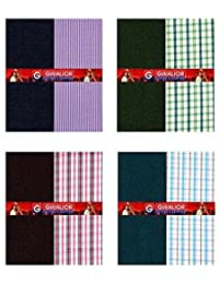 Kundan Sulz Gwalior Men's Shirt And Trouser Combo (Shirt_Trouser_Fabric_Combo_4_Multicolor_1.20 And 2.25 Meters)