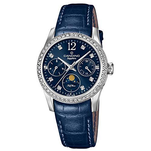 CANDINO Orologio da donna al quarzo analogico C4684/2 cinturino in pelle Fashion blu UC4684/2