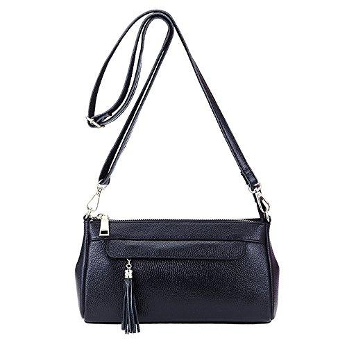 Mefly Bangalor Weiblichen Diagonal Leder Tasche Tasche Black