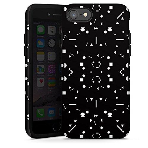 Apple iPhone X Silikon Hülle Case Schutzhülle Muster Art Schwarz Tough Case glänzend