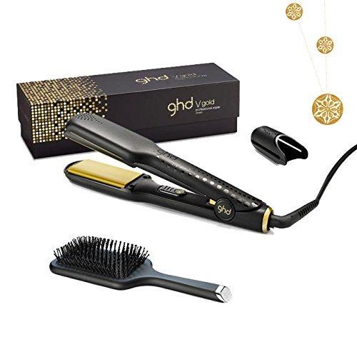 Alisador de pelo GHD Gold Classic + cepillo plano GHD + cinta dorada L'Oréal