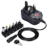 Gaddrt 12W-AC/DC-Netzteil-Stecker-Adapter, 3V, 4,5V, 6V, 7,5V, 9V, 12V