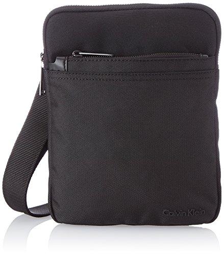 Calvin Klein Jeans Umhängetasche Everyday Nylon Flat Crossover Schwarz (Black) J5EJ500208 Preisvergleich