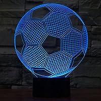 3d Led Lampe Fussball Fernbedienung Schreibtisch Tisch Led