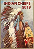 Pixiluv 2019 - Calendario de Pared (12 páginas, 20,32 x 27,94 cm), diseño de Chef Indio Americano Nativo