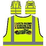 Je Ne Ronfle Pas Je Rêve Que Je Suis Une Moto Veste de protection jaune personnalisée à haute visibilité s169v
