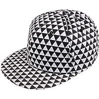 DAYOUZ Gorra de Beisbol New Flat Hats Negro Rojo Plaid Geometric Snapback Caps Mujeres Hombres