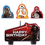 Amscan Star Wars Episode Vll Birthday Candle (Set of 4), Multicolor by Amscan
