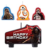 La vostra torta è pronta ad aderire al vecchio cast di ribelli in una nuova avventura per il tavolo da dessert con una serie di Star Wars Episodio VII Il Potere della Forza Risveglia Candeline di compleanno. Il grande candela è perfetto per i...