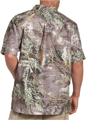 Realtree Herren Short Sleeve Camp Shirt Max-1 Khaki