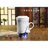 Top grade ceramica fiore tazza con infusore