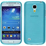 PhoneNatic Case für Samsung Galaxy S4 Mini Hülle Silikon blau brushed Cover Galaxy S4 Mini Tasche + 2 Schutzfolien