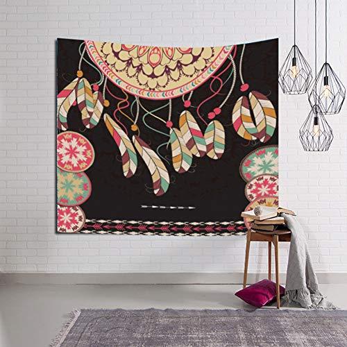 MMLUCK Tapiz Tapiz de Pared con patrón de atrapasueños pequeño Tapiz con decoración artística para el hogar Chakra para decoración de DormitorioDecoración de la Sala de Estar(150X200cm)
