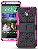 Heartly Flip Kick Stand Spider Hard Dual Rugged Armor Hybrid Bumper Back Case Cover For HTC Desire 620 620G 820 Mini Dual Sim - Cute Pink