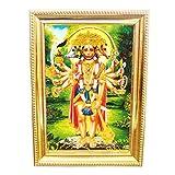 Panchmukhi Hanuman Photo Frame - Om Pooja Shop