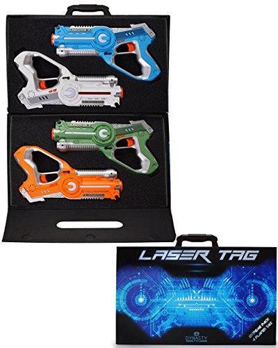 DYNASTY LASER TAG Laser-Tag-Set für Kinder, extreme Packung (4 Blaster) (Bug-spielzeug Für Jungen)