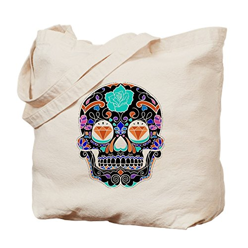 CafePress Dark Sugar Skull Tote Bag, canvas, khaki, M