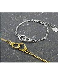 2ESPOSAS pulseras, socios en crimen, Best Friends pulseras, pulseras a juego, amor pulseras de la amistad pulseras, pulseras, y letras BFF