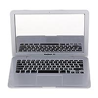 Gogogo Makeup Mirror ABS Laptop Notebook Shape Portable Compact Mirror