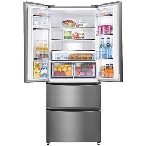 Candy CCMN 7182 IXS frigo américain - frigos américains (Autonome, Noir, Porte française, A+, LED, SN-T)