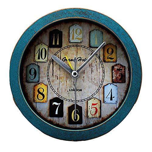 Abceeee Das alte Europa-Orakel Der kleine Holzklotz auf dem Land Kreative Felder Tischsitz Uhren-Uhren Holzstammschaltung,Green