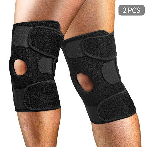 AiBast 2X Kniebandagen Rechts und Links,Sport Knieorthese, Knieschienen für Optimale Unterstützung für Ihr Knie,Elastisch & Atmungsaktiv