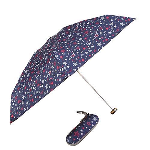 Regenschirm Kinder-Sonnenschirm Regenschirm mit Schönen Muster Windproof Sturmfest, Umbrella Wasserdicht Leicht, Taschenschirm Einfach Mitzunehmen Stabil 5 Muster Ein Schöne Box Schenken (A)