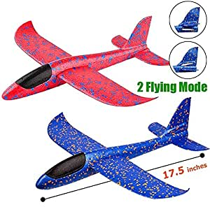 The Flyers Bay The Flyer's Bay Flying Glider Foam Planes Pack of 3   Flying Toy for Kids, Outdoor Sport Toys, Birthday Gift for Kids, 3 4 5 6 7-Year-Old Boy