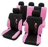 Flower rosa pink schwarz 5130 Schonbezug Sitzbezug Autoschonbezug Schonbezüge für das unten angegebene Fahrzeug