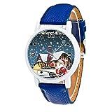 Heißer LSAltd Kinder Weihnachtsuhr Weihnachten Weihnachtsmann Landschaft Uhr Kinder Jungen Mädchen Casual Quarzuhr Deluxe Gürtel Analoge Uhr