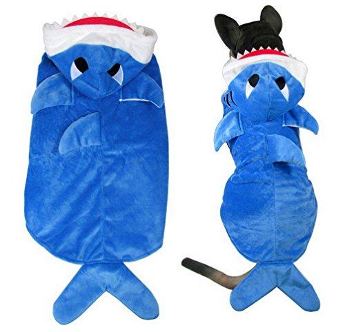 ranphy Shark Kostüm Medium Puppy Pet Winter Kleidung Hund Hoodie Kostüm Hund Schlafanzüge mit Füßen (Teen Kostüm Hoodie)