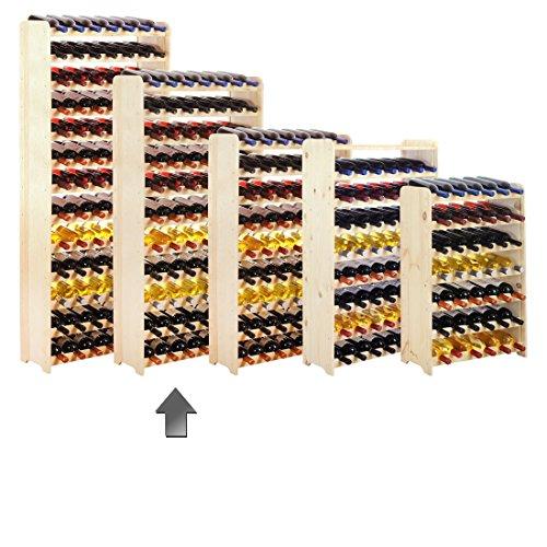 Weinregal / Flaschenregal System 'Optiplus' Modell 4, für 77 Fl., Holz, Kiefer Natur