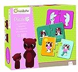 Avenue Mandarine JE503O Set mit 12 Puzzles 2-teilig, praktisch, spielerisch und farbenfroh, ideal für Kinder ab 2 Jahren, 1 Set, Gegensätze