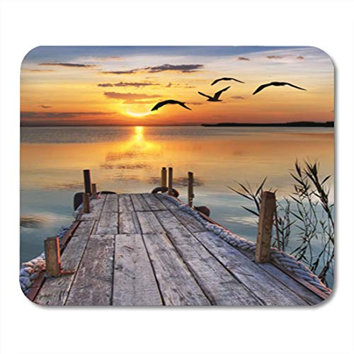 Gaming Mauspads, Gaming Mouse Pad Blue Sunrise Healthy Dessert Sunset Landscape Flying Nature Ocean 11.8