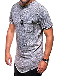 MT Styles Oversize T-Shirt style washed manches courtes C-9033