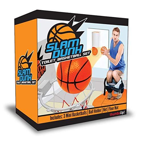 Goods & Gadgets Set Mini de Canasta de Baloncesto para baño (Canasta y Pelota)