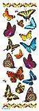 s ', 12-Papiere Übertragung 75 x 210 mm), Schmetterling-Design, verschiedene Farben