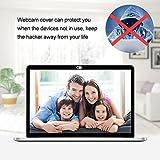 AJOXEL Cubierta Webcam (9 Unidades), Webcam Cover Slider 0.027in Ultra Fino Tapa Webcam para Macbook Pro, Cámara,Laptop, Mac, Portátil ,PC, iPad, Surfcase Pro, Tablet ,iPhone
