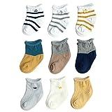 FYGOOD Unisex - Baby Socken Erstlingssöckchen, 9er Set Gemischtes Paket A XS(0-6 Monate)