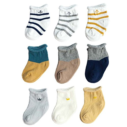 Socken Erstlingssöckchen, 9er Set Gemischtes Paket A M(1-3 Jahre) ()