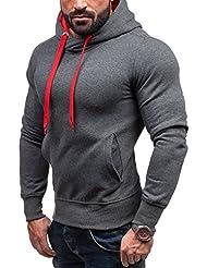 BOLF – Sweat-shirt á capuche – Pull de sport – J.STYLE 2071 – Homme