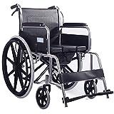 Rollstuhl Leichte Selbstfahrer Tragbarer Mobilitätshilfen Ausrüstung Rollstuhl Walker Trolley geeignet für ältere Patienten Behinderungen mit abnehmbarem Bedpan -