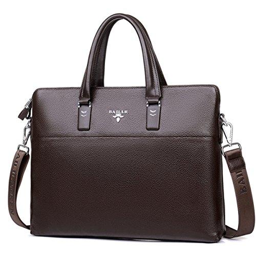 Männer Rindsleder Business Bag Horizontale Version Computer Tasche Handtasche Männer Schultertasche Diagonal Paket Brown