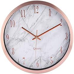 Wanduhr Lautlos, Anna Shop 12 Zoll Modern Lautlos Wanduhr Uhr ohne Tickgeräusche mit Marmor Textur