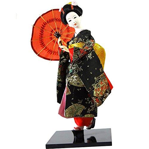 Black Temptation Traditionelle japanische schöne Kimono-Geisha /Maiko Puppe /Geschenke / Deko-A14